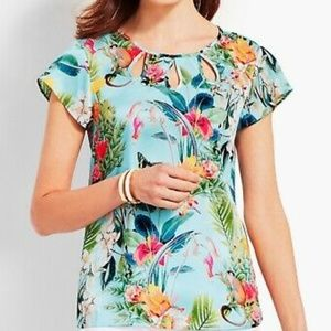 rsvp by TALBOTS tropical print top size S